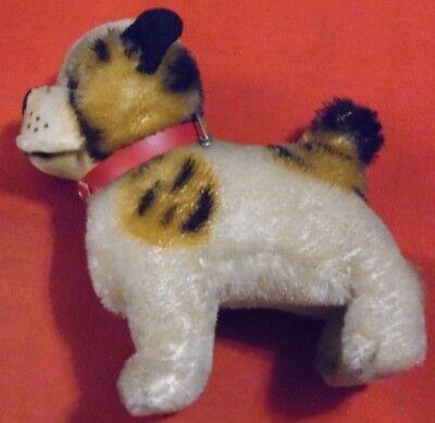 Steiff Hund  , 10 cm x 6 cm x 11 cm , Uralt  , mit Halsband , ohne Knopf im Ohr
