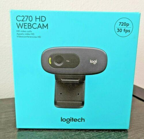 LOGITECH C270 HD Webcam 720p - Black -  SEALED & NEW  Quick Ship