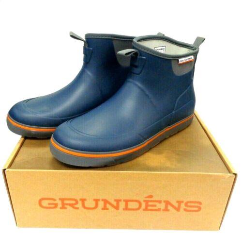 """Grundens Deck-Boss 6"""" Ankle Boots - Deep Water Blue - Deck Boss Men Select Size"""