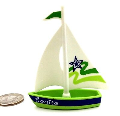 Playmobil Sailboat Toy for Playmobil Children Green & White Present M40