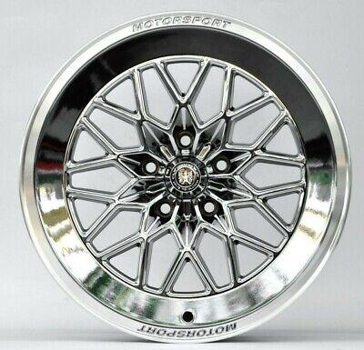 18 x 8 Car Wheels Fits Honda Toyota PCD 5x114.3 ET 40 CB 73.1 Chrome Set 4