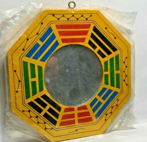 "6"" Feng Shui Traditional Yin Yang BaGua with Real Mirror Yellow Red Blue Green"
