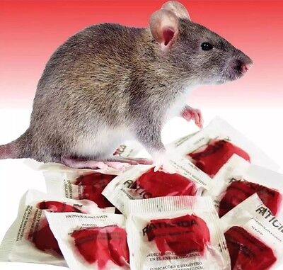 Rat Poison Mouse Killer Professional Grade 25 Packets  This Stuff Really Works