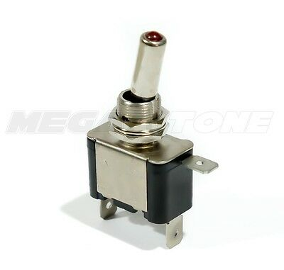 Heavy Duty 20a Toggle Switch Spst On-off Wred Led - Cartruckboat Usa Seller