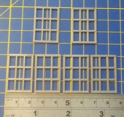 6 X FENETRE - WINDOWS - O - H:30 mm  L: 20 mm - HOF-1101 GR