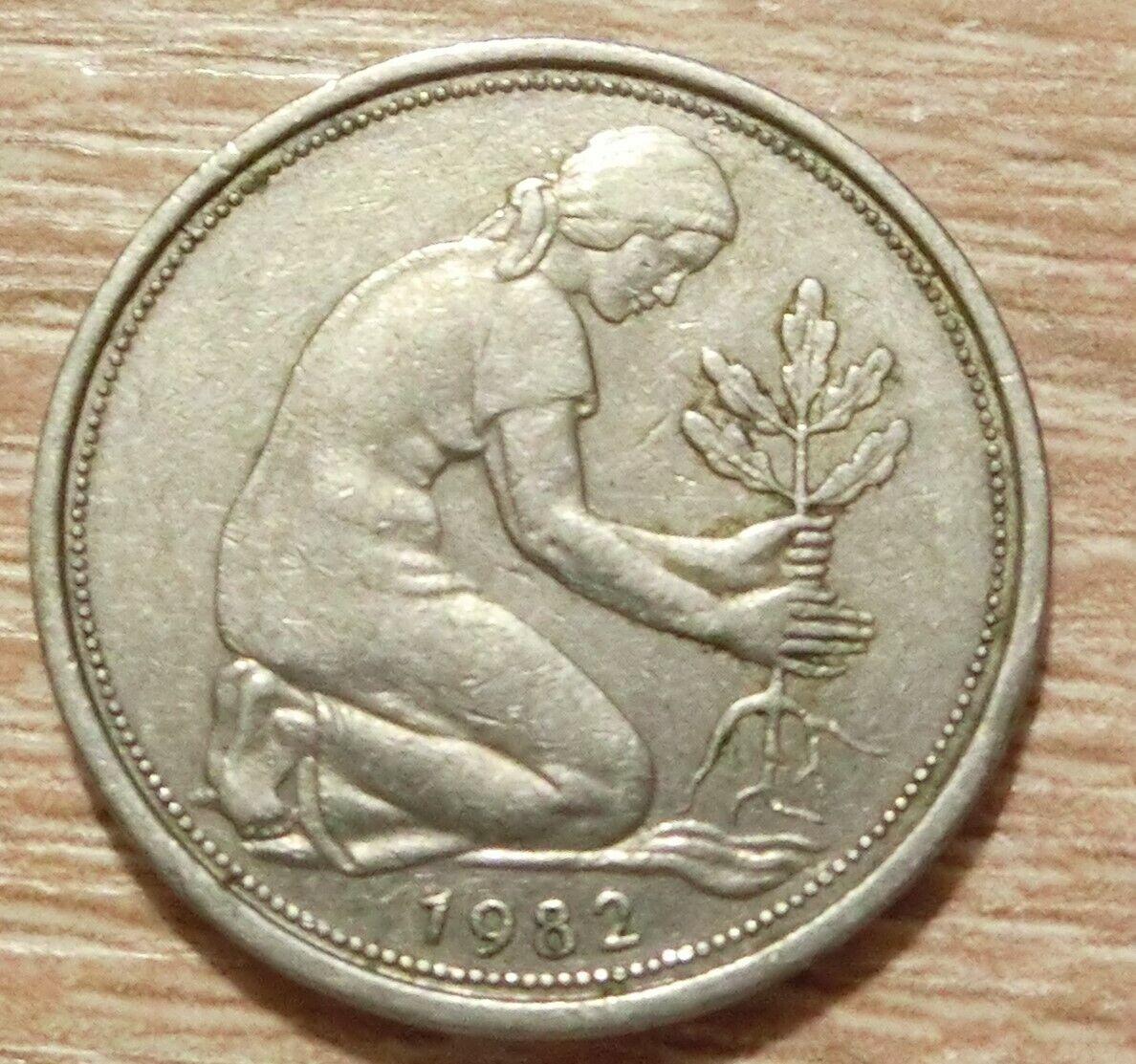 Bundesrepublik Deutschland 50 Pfennig 1982 J - 1,00 €