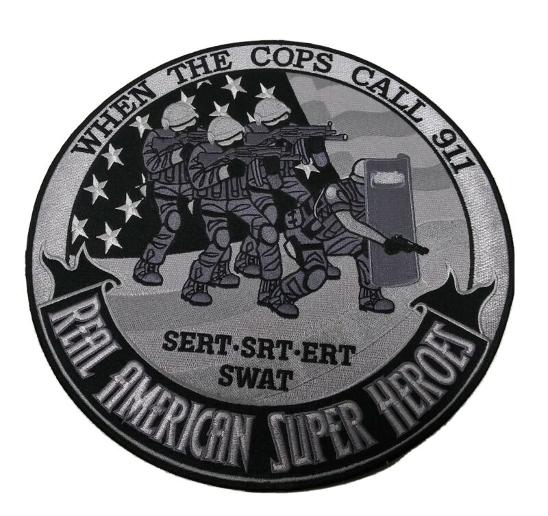 """Heroes Pride Tribute Collection Real American Super Hero 12"""" Patch SWAT"""