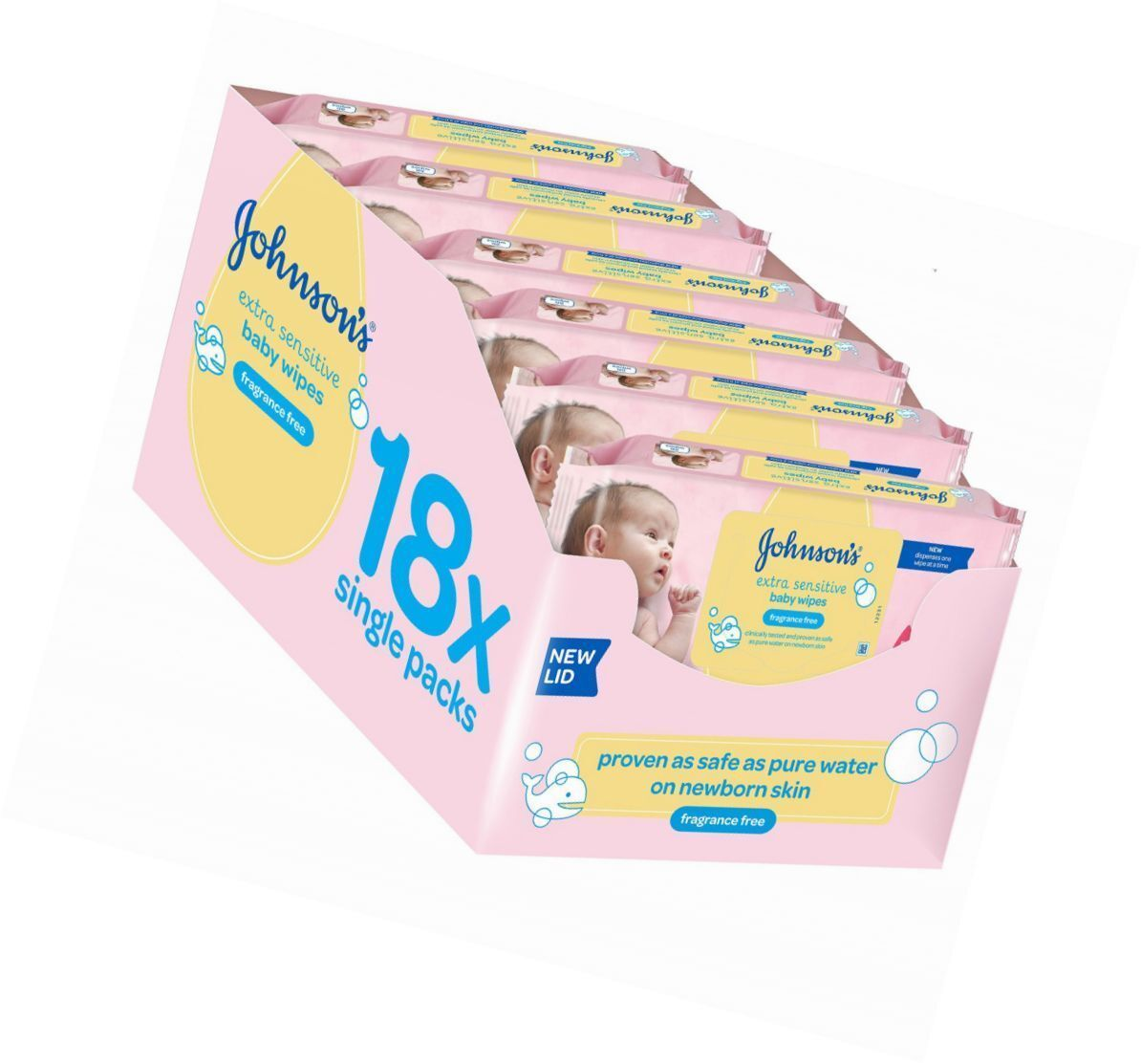 *BRAND NEW* Johnson/'s Baby Wipes 18 Pack 1008 Wipes