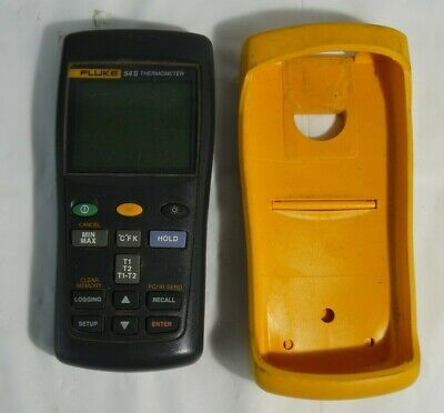Fluke 54 Ii Thermometer Meter W Yellow Case For Parts Repair