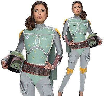 Boba Fett Womens Costume (NWT DISNEY STAR WARS BOBA FETT FEMALE WOMEN GIRL ADULT BODYSUIT COSTUME)