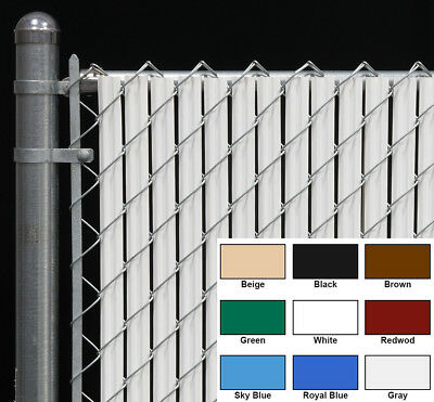 Chain Link Fence Privacy Slat for 4 FT High Fence - Single Wall Bottom Lock Slat Slats Chain Link Fences