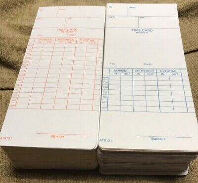 2 Pack - Acroprint Time Card Atr121 Electronic Clock Weekly Or Biweekly 250 T10