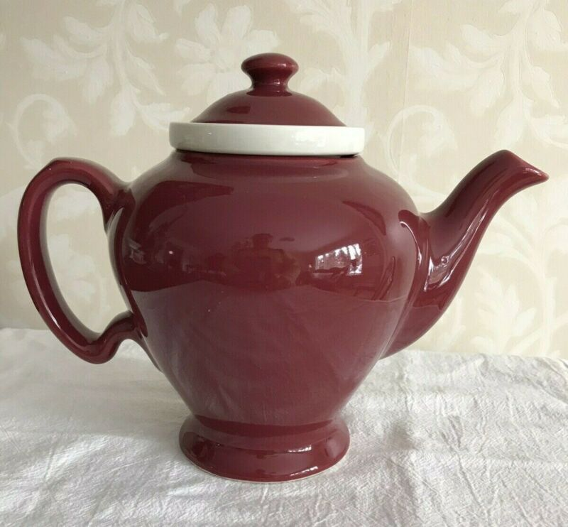 Vintage McCormick Burgundy Teapot with Infuser - 2 available - Excellent cond