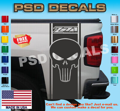 Used, Chevy Z71 Punisher Rear Bed Vinyl Decal Stripes Truck Graphics T-228 for sale  Shipping to Canada