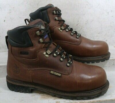 Georgia Boot Mens Hammer Met Guard G6315 Brown Safety Work Boots Shoes sz 12 M Georgia Mens Safety Shoes