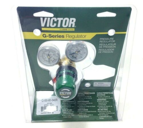 """Victor 0781-4241 Oxygen Regulator G150-60-540R for use with """"A"""" type hoses NEW"""
