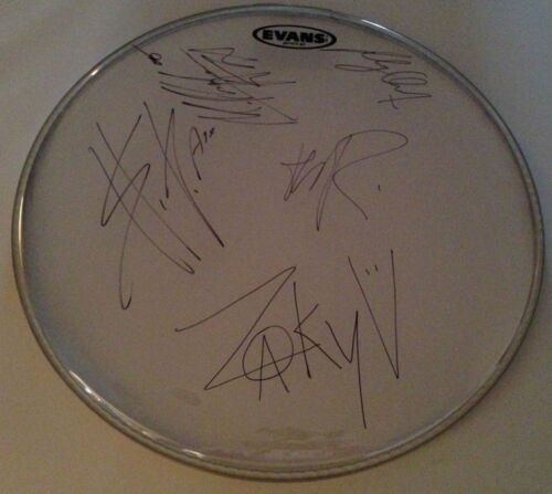 A7X AVENGED SEVENFOLD BAND SIGNED DRUMHEAD ALL 5 THE REV AUTOGRAPH ZACKY