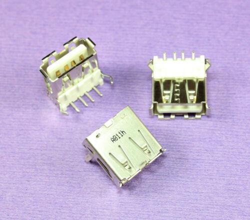 8pcs Foxconn Female USB Receptacle Connector PCB Horizontal Mount Socket