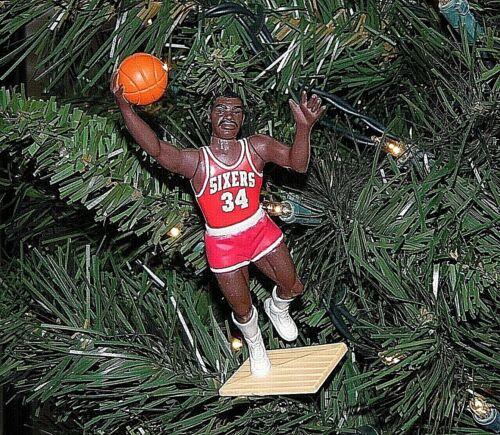 charles BARKLEY philadelphia 76ers basketball XMAS tree ORNAMENT vtg JERSEY tree