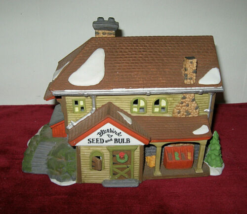 Dept 56 New England Village Series 1992 Bluebird Seed and Bulb 5642-1 Retired