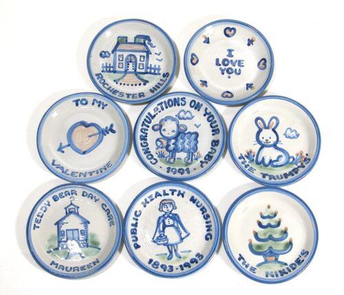 8 MA Hadley Pottery Coasters