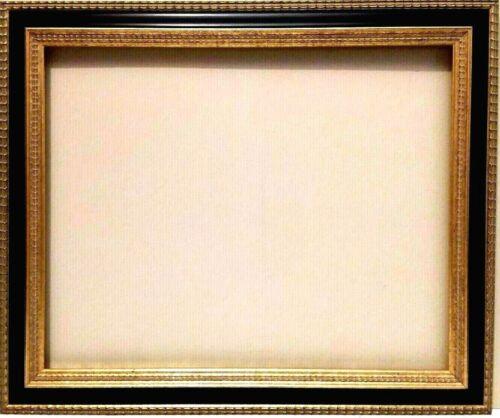 """18"""" X 24"""" STANDARD PICTURE FRAME 2 1/4"""" WIDE GOLD LEAF & BLACK REVERSE PANEL"""