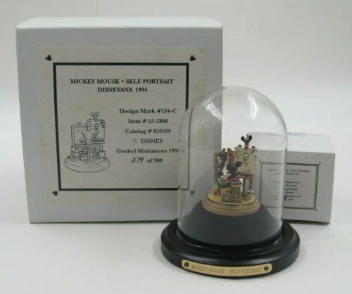 "Goebel Miniatures Disneyana 1994 Mickey Mouse ""Self Portrait"" Limited Ed in Box"