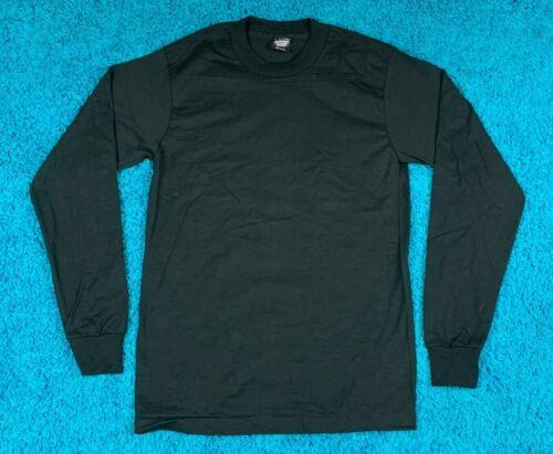 S/M * nos vtg 80s/90s BLANK black longsleeve SCREEN STARS t shirt * small medium