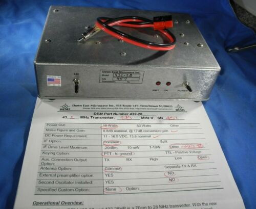 DEMI Down East Microwave Inc. Transverter UHF 432-28 10W