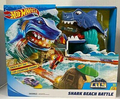 Hot Wheels FNB21 City Shark Beach Battle Play Set - NEW FACTORY SEALED