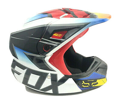 Fox Race Helmet V2 XL Black & Red Multicolor DOT Certified