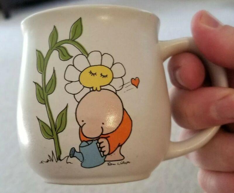RARE 1979 Ziggy Sunflower Kiss Gardening Tulip Shaped Coffee Mug Cup Stoneware
