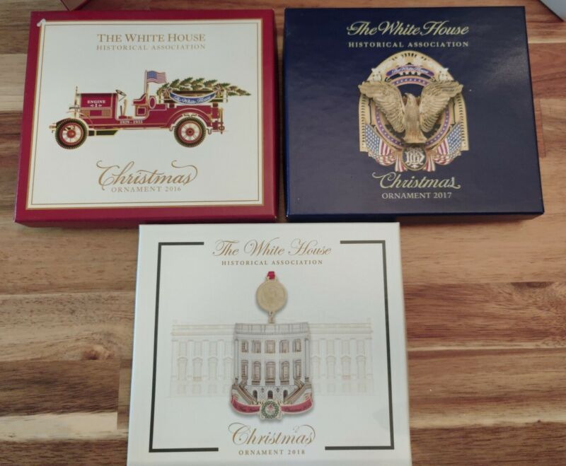 The White House Historical Association 2016 2017 2018 Boxed Christmas Ornaments