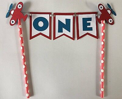 Air Plane Party Cake Topper. Great for Birthdays. You pick age or name