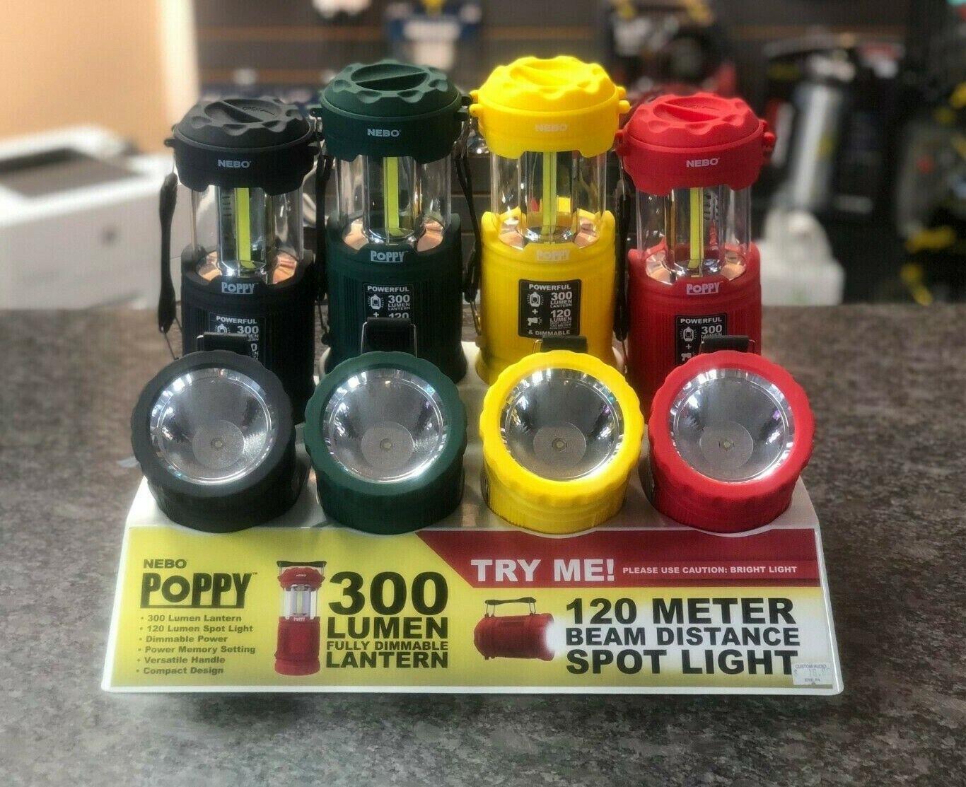 Nebo Poppy 300 Lumens Lantern and Spotlight #6555