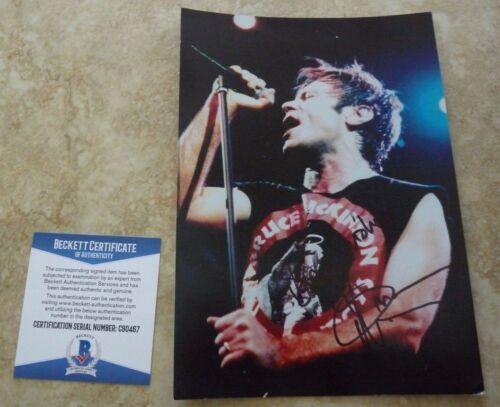 Bruce Dickinson Iron Maiden Signed Autograph 6x8 Photo Beckett Certified