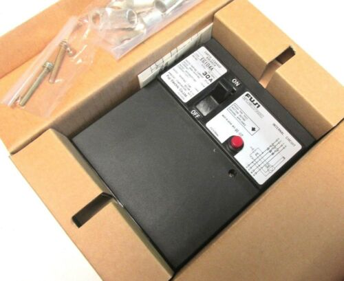 NIB... FUJI Earth Leakage Circuit Breaker 30A, 415V, 3P Cat# EG104A ... UN-02