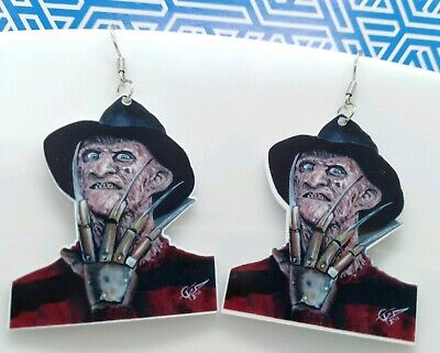 ONE PAIR of Acrylic horror movie lover Drop Earrings Halloween costume idea