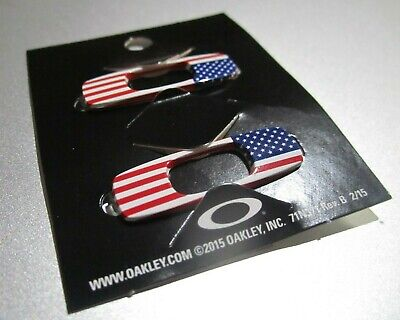 Oakley Batwolf Sunglasses Replacement Icons Attachments Logo Pair USA Flag New