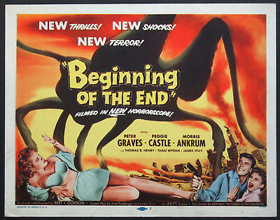 BEGINNING OF THE END PETER GRAVES GIANT INSECT SCI-FI 1957 TITLE CARD
