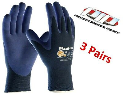 Pip 34-274 Maxiflex Elite Lightweight Gloves Nitrile Foam Grip 3 Pair Sm-xl