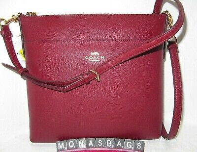 Coach 39408 Deep Red Crossgrain Kitt 26 Leather Crossbody Handbag NWT $195 Deep Red Leather Handbag