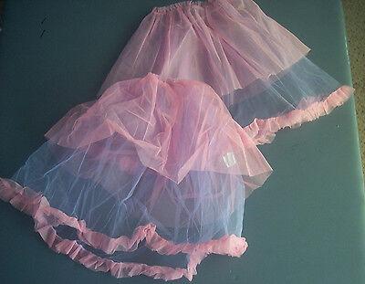 Girl Play Skirt 2 Fairy Princess Dress Up Sz 4 5 6 Halloween Costume Pink Purple (4 Play Halloween Costumes)