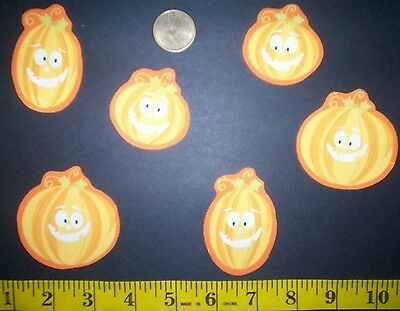 New! Cool! Halloween Pumkins IRON-ONS FABRIC APPLIQUES IRON-ONS