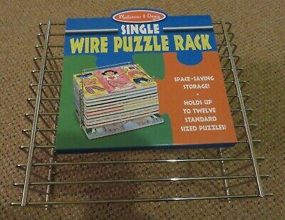 NEW Melissa Doug Puzzle Storage Rack - Wire Rack Holds 12 Puzzles