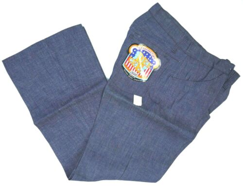 VINTAGE 70s WASHINGTON DEE CEE BELL BOTTOM/FLARE JEANS USA MENS 32x34 NWT NOS