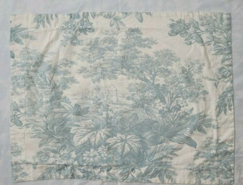 Pottery Barn Matine Toile Sham Porcelain Blue Floral Linen Blend French Country