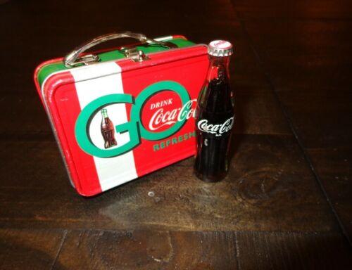 Coke Coca-Cola Mini Bottle & Trinket Tin Lunch Box * Soda Display Miniature