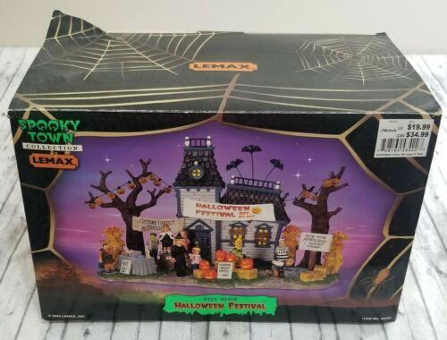 Lemax Spooky Town Halloween Festival #43422 Retired Halloween Village