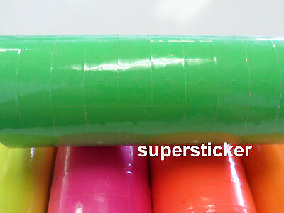 Green Price Tags For Mx-6600 2 Lines Gun 1 Tube X 13 Rolls X 500